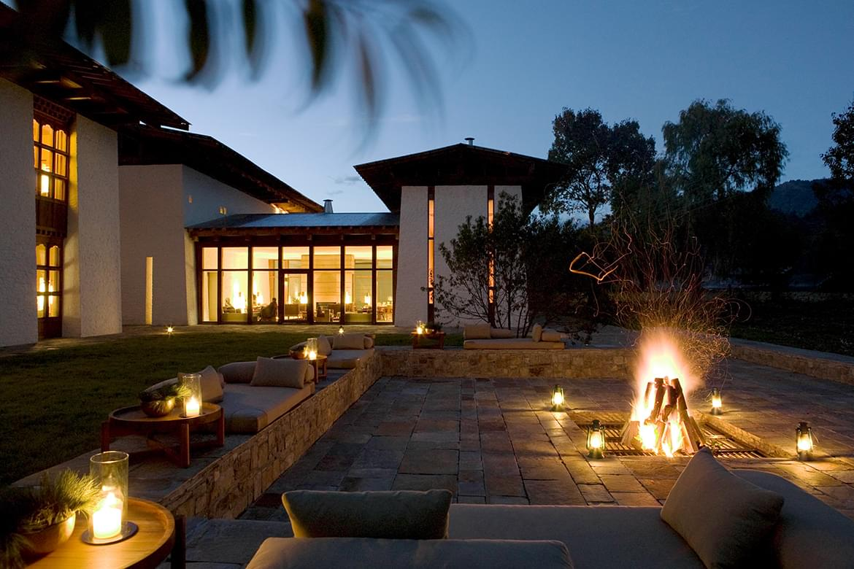 Amankora – Bumthang Courtyard_Bonfire