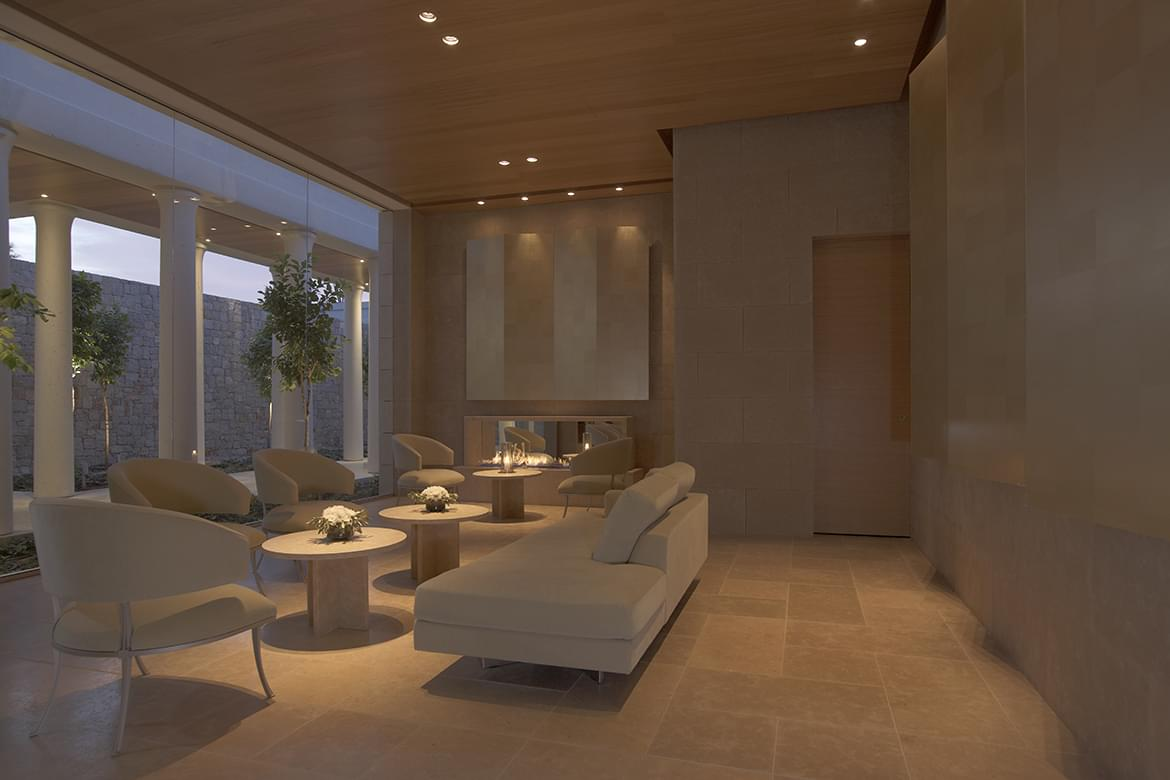 Amanzoe – Aman Spa Reception