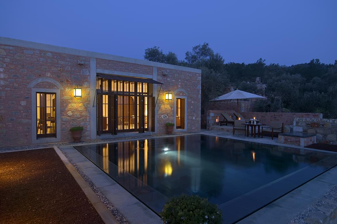 Amanruya – Pool Terrace Cottage Exterior & Pool
