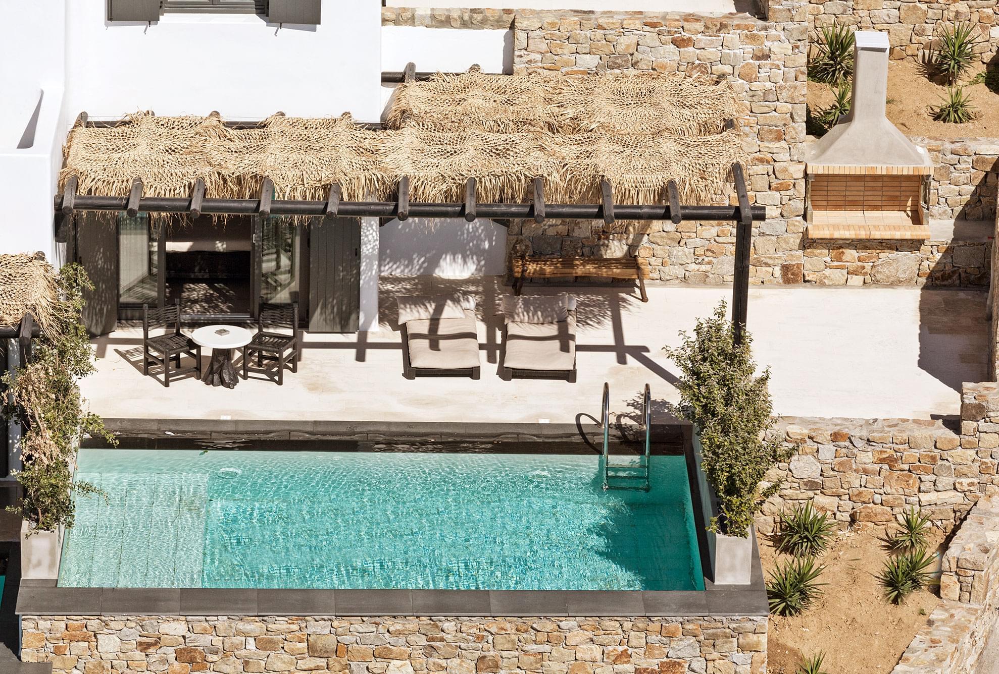 The Myconian Utopia swimming pool