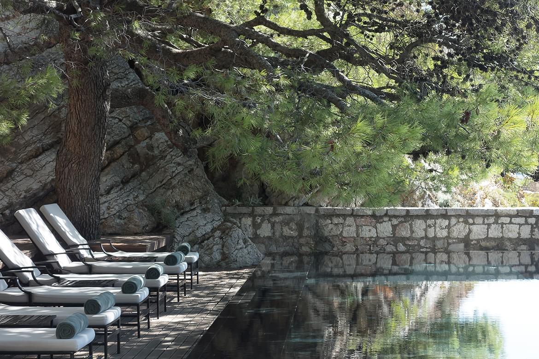Aman Sveti Stefan Hotel swimming pool