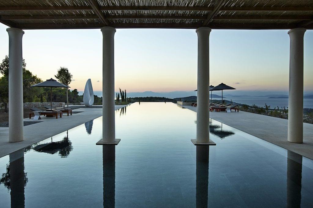 Amanzoe Resort swimming pool