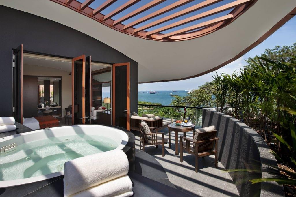 The Capella Hotel Singapore terrace