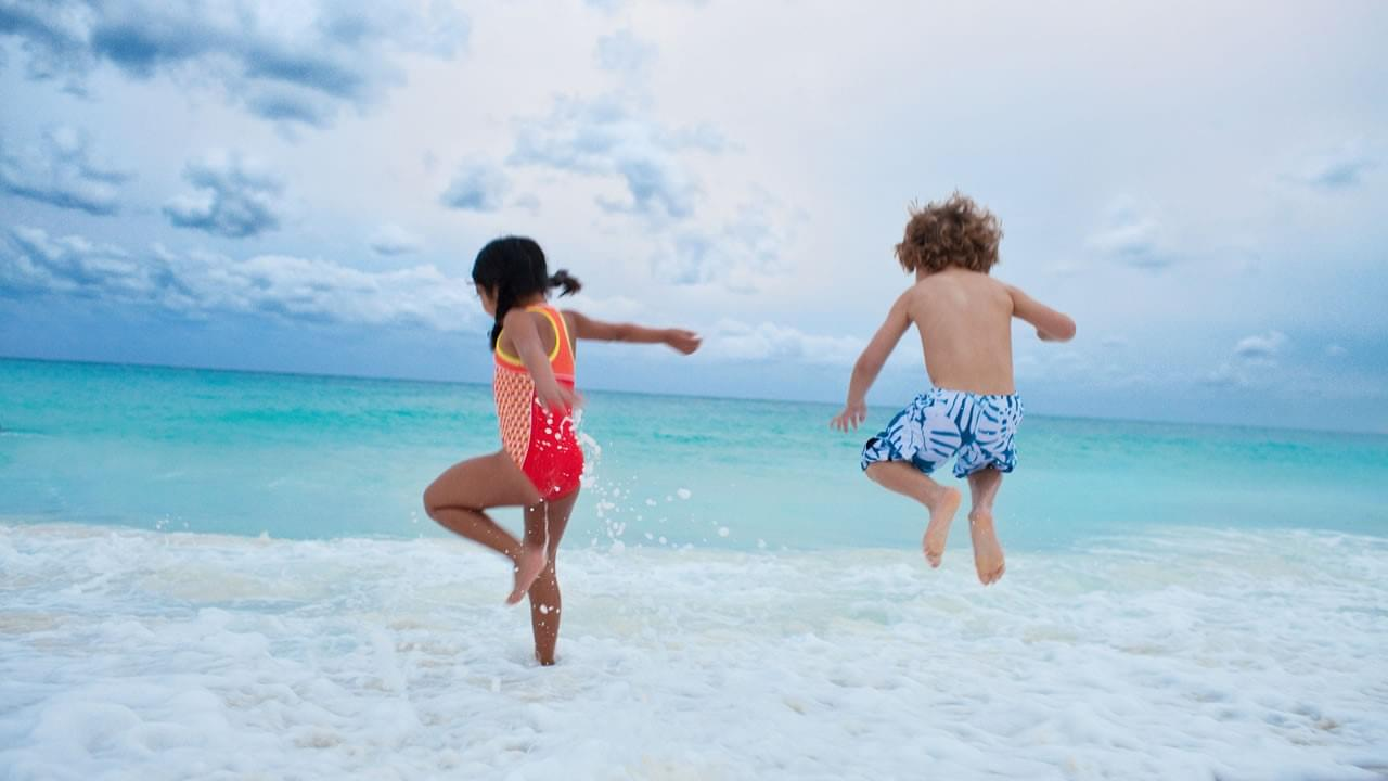 Kids Playing in Ocean