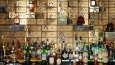 Vault Bar, original safes behind the bar