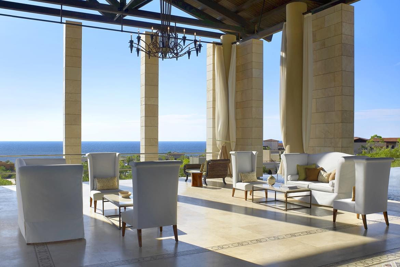 Romanos resort patio